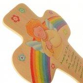 Immagine di 'Croce bombata angelo ed arcobaleno'