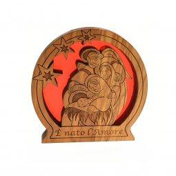 """Copertina di 'Natività in legno """"È nato l'amore""""'"""