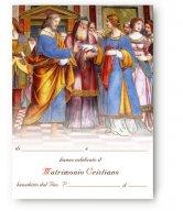 """Pergamena grande """"Sposalizio della Vergine"""" per il matrimonio - dimensioni 24x18 cm (10 pezzi) - Bernardo Luini"""