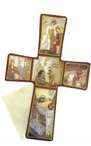 Copertina di 'Croce stampa Nativita' di Padre Rupnik su legno cm 22x33 con scatola e spiegazione'