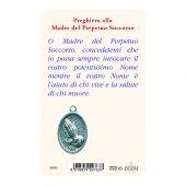 """Immagine di 'Card """"Madonna del Perpetuo Soccorso"""" con preghiera e medaglia - (10 pezzi)'"""