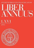 Liber Annuus LXVI-2016