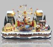 Immagine di 'Villaggio natalizio con luna park, movimento, luci, musica (70 x 46 x 50 cm)'