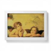 """Quadretto """"Angeli"""" con cornice minimal - dimensioni 10x15 cm - Raffaello Sanzio"""