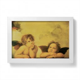 """Copertina di 'Quadretto """"Angeli"""" con cornice minimal - dimensioni 10x15 cm'"""