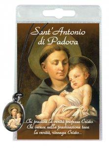 Copertina di 'Medaglia Sant Antonio con laccio e preghiera in italiano'