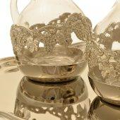 Immagine di 'Servizio ampolline Venezia in vetro soffiato con pietre preziose'