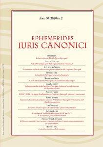 Copertina di 'Ephemerides Iuris Canonici. Anno 60 (2020) n. 2'