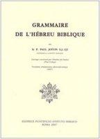 Grammaire de l'hébreu biblique - Joüon Paul