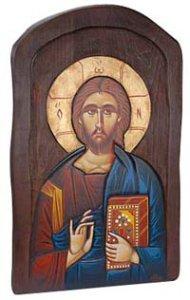 """Copertina di 'Icona in legno massello """"Gesù Maestro"""" - dimensioni 55,5x35 cm'"""