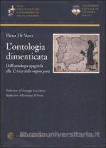 Copertina di 'L' ontologia dimenticata'