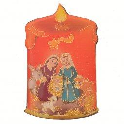 "Copertina di 'Magnete resinato a forma di candela ""Presepe""- dimensioni 8x5 cm'"