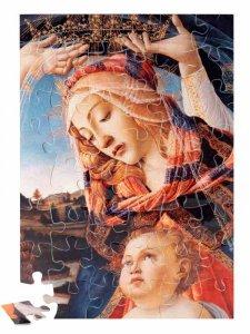 """Copertina di 'Puzzle """"Madonna del Magnificat"""" (48 pezzi)'"""