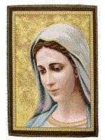 """Immagine di 'Arazzo """"Madonna di Medjugorje""""- dimensioni 25x17,5 cm'"""