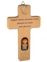 Croce con Angioletto blu e preghiera di  su LibreriadelSanto.it
