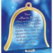 """Immagine di 'Icona in legno a campana """"Colomba dello Spirito Santo"""" - dimensioni 10x11 cm'"""