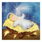 """Mini puzzle per bambini """"Gesù Bambino"""" - 12 pezzi"""
