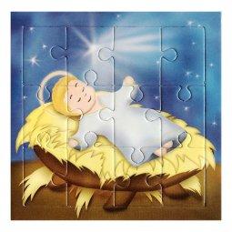 """Copertina di 'Mini puzzle per bambini """"Gesù Bambino"""" - 12 pezzi'"""