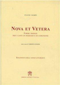 Copertina di 'Nova et vetera. Forme tropate per i canti di ingresso e di comunione'