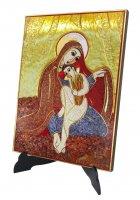 Immagine di 'Quadro Madonna delle Spighe Padre Rupnik stampa 21x28 cm - (Monza)'