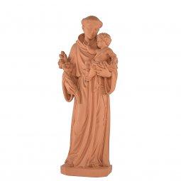 """Copertina di 'Statua sacra in resina ad effetto terracotta """"Sant'Antonio di Padova"""" - altezza 80 cm'"""