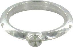 Copertina di 'Rosario anello in argento 925 con 10 incisioni misura italiana n°18 - diametro interno mm 18,5 circa'