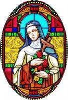 Immagine di 'Quadro Santa Teresa in legno ad arco - 10 x 27 cm'