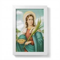"""Copertina di 'Quadretto """"Santa Lucia"""" con cornice minimal - dimensioni 15x10 cm'"""