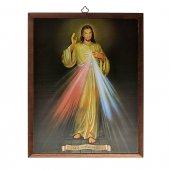 """Quadro in legno da appendere """"Gesù misericordioso"""" - dimensioni 25x20 cm"""