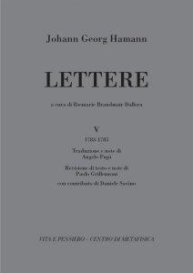 Copertina di 'Lettere. Vol. 5 (1783-1785)'