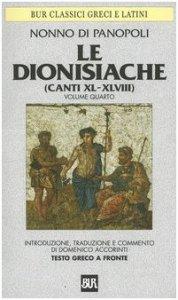 Copertina di 'Le dionisiache. Testo greco a fronte'