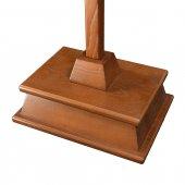 Immagine di 'Croce astile in legno con Cristo bronzato - dimensioni 183x47 cm'