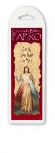 """Copertina di 'Segnalibro in papiro """"Gesù, confido in Te!"""" - altezza 17,5 cm'"""