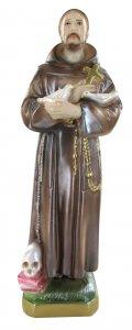 Copertina di 'Statua San Francesco in gesso madreperlato dipinta a mano - 20 cm'