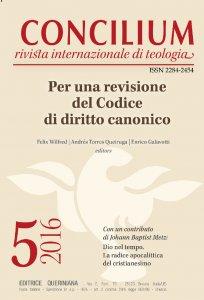 Copertina di 'Concilium 5-2016: Per una revisione del Codice di diritto canonico'