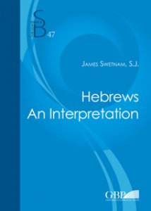 Copertina di 'Hebrews. An interpretation'