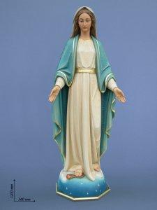 """Copertina di 'Statua in fibra di vetro dipinta a mano """"Madonna delle Grazie - Immacolata"""" - altezza 120 cm'"""