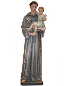 """Copertina di 'Statua  in legno colorato """"Sant'Antonio di Padova"""" - altezza 120 cm'"""