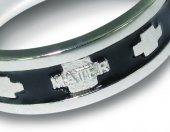 Immagine di 'Fedina rosario in argento smaltata nera con crocette mm 15'