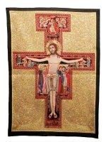 """Arazzo """"Crocifisso di San Damiano"""" (64cm x 44cm)"""
