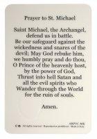 Immagine di 'Card San Michele Arcangelo in PVC - misura 5,5 x 8,5 cm - inglese'