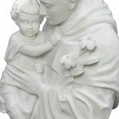 """Immagine di 'Statua in resina bianca """"Sant'Antonio di Padova"""" - altezza 40 cm'"""