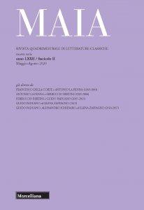 Copertina di 'Maia. 2/2020: Rivista quadrimestrale di letterature classiche'