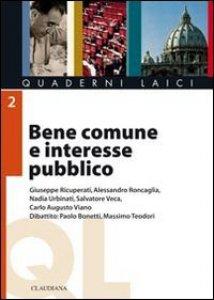 Copertina di 'Bene comune e interesse pubblico'