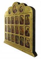 Immagine di 'Icona 19 Madonne e Angeli, produzione greca su legno - 42 x 36,5 cm'