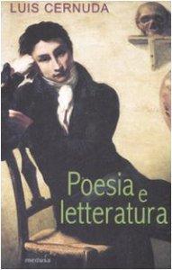 Copertina di 'Poesia e letteratura'