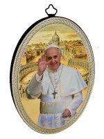 Ovale con papa Francesco di  su LibreriadelSanto.it