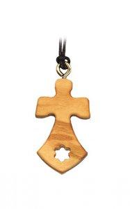 Copertina di 'Croce del Carmine in legno d'ulivo con laccio'