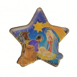 "Copertina di 'Magnete a forma di stella ""Il presepe"" - dimensioni 5x5 cm'"