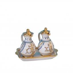 Copertina di 'Ampolline anfora in ceramica con simbolo IHS - Modello Vario e oro'